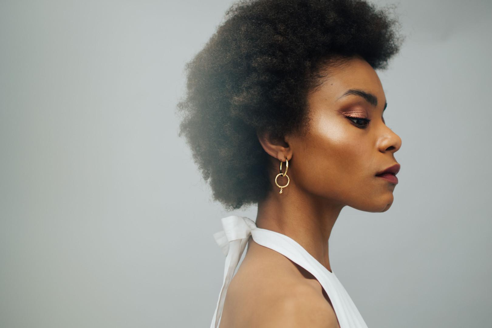 Top: Brock Collection  Earrings: Pandora