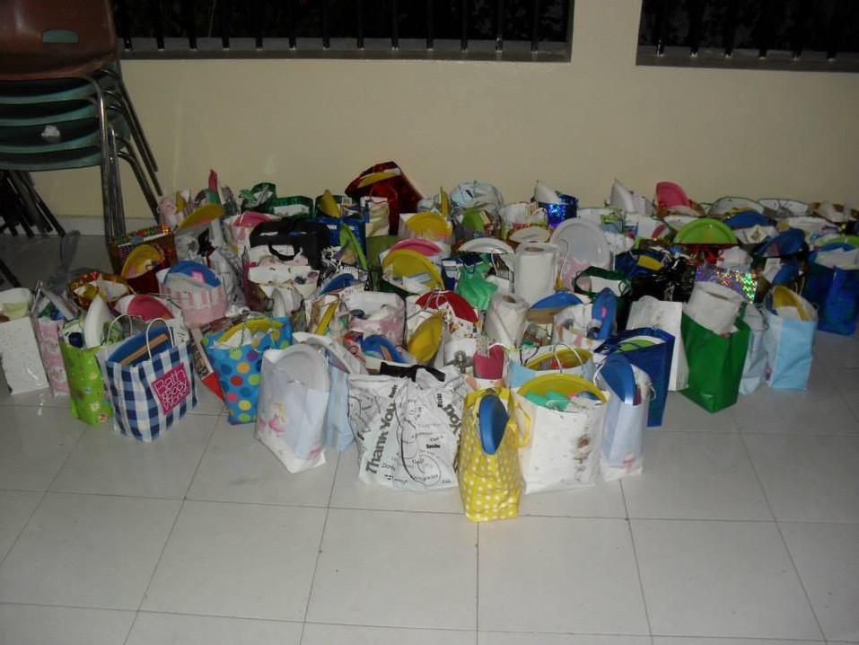 Préparation des sacs pour distribution