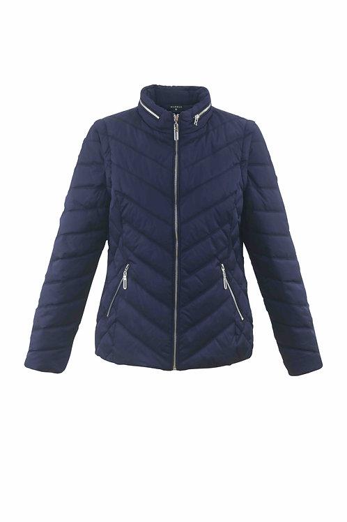 Blue lightweight puffa jacket