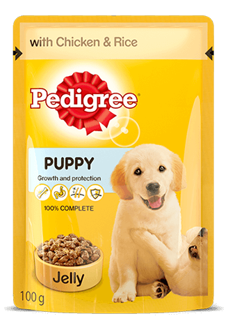 Pedigree Gravy Puppy Chicken and Rice