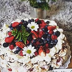 Pavlova merengue cake ø 30 cm/ 15 - 20 trozos