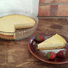 Tarta de queso mató con semillas de amapola 14 trozos