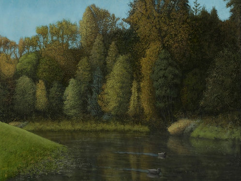 Along the Sammamish River in the Fall  (Print)
