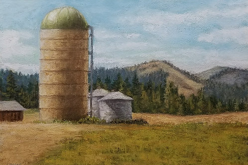 Grain silo with a view (Print)