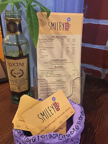 Smiley Cafe Print Design