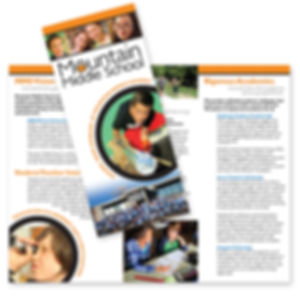 Mountain Middle School Brochure Design