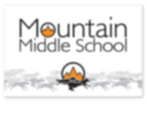 Mountain Middle School Banner Design