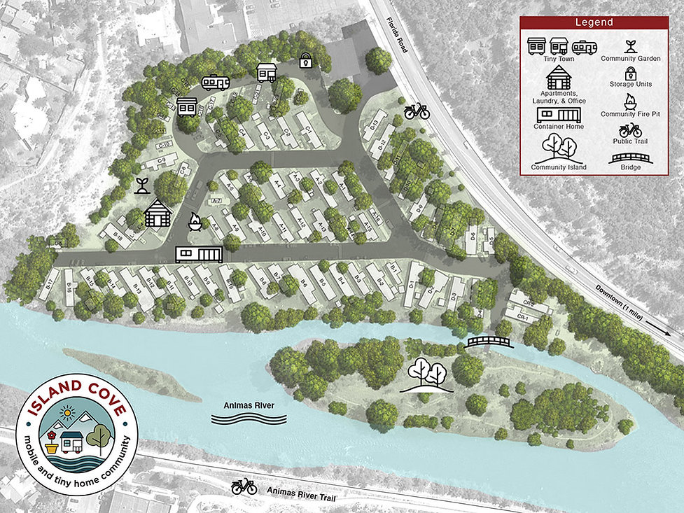 Island Cove Mobile and Tiny Home Community Site Plan Map