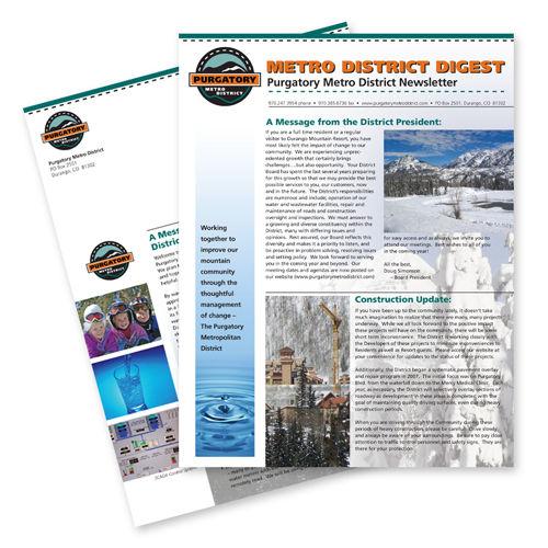 Purgatory Metro District Print Design