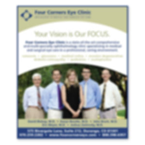 Four Corners Eye Clinic Ad Design