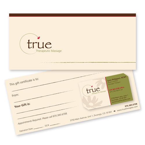 True Therapeutic Massage Print Design