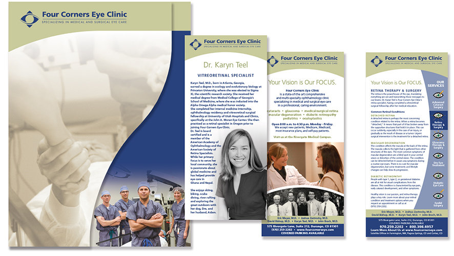 Four Corners Eye Clinic Print Design