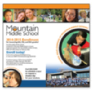 Mountain Middle School Ad Design