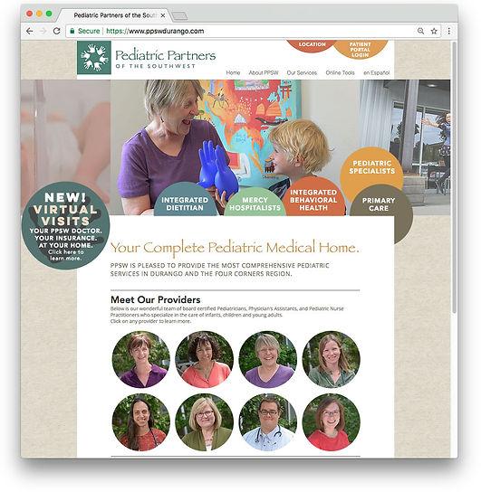 Pediatric Partners Web Design