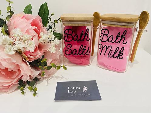 Bath Salt Glass Jar