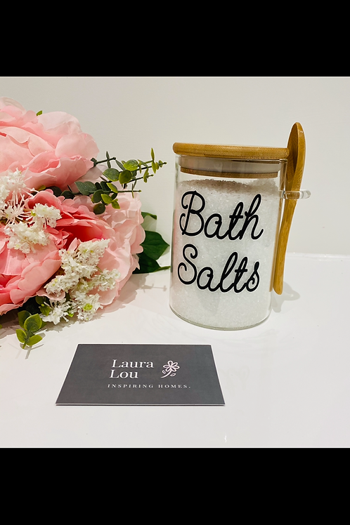 Bath Salt Glass Jar
