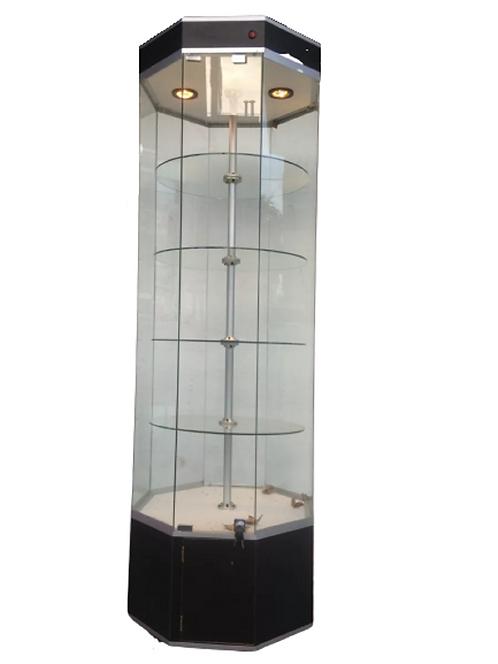 Aparador Vitrina Octagonal Torre  Exhibidor Mostrador central