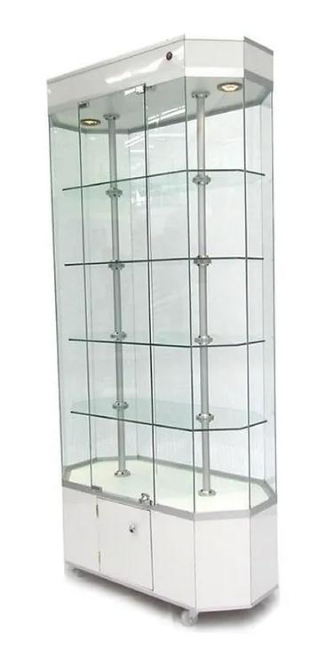 Aparador Vitrina Diamante Exhibidor Mostrador 85cm. Largo
