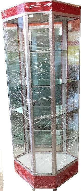 Aparador Vitrina Esquinera Exhibidora Torre  Central 2m Estantería sv