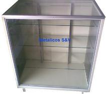 Vitrina  Exhibidora Eco Cristal 1m