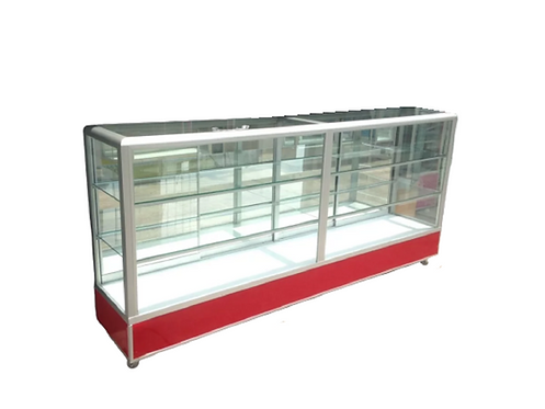 Vitrina exhibidora aluminio  aparador mostrador 1.80x40