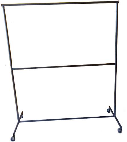 Rack Tipo Closet Viajero Colgador Ropa 2 Niv. 1.50m Remate G15-2N