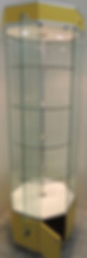Aparador Octagonal Exhibidor de Cristal