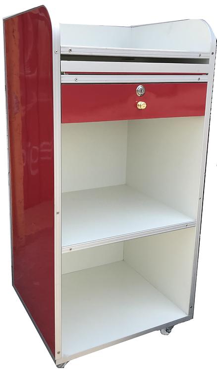 Modulo para caja de cobro exhibidor con Ruedas
