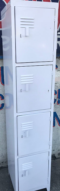 Locker Metálico 4 puertas Guarda ropa Casillero Blanco