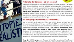 """NON A LA REPRISE DU CHANTIER DE LA GARE """"TRIANGLE DE GONESSE"""" !"""