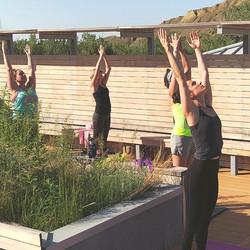 Helen Schuler Rooftop Yoga