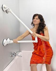 Mobeli støttegreb til immobilitet i badeværelset fra CarePartner