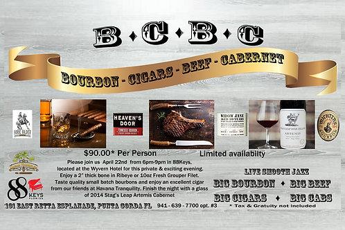 Bourbon ~ Cigars ~ Beef ~ Cabernet at 88Keys