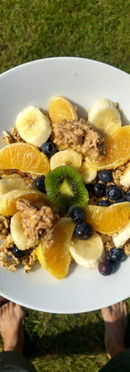 Granola et fruits