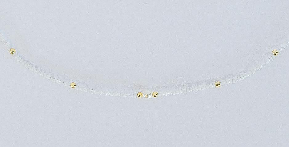 Gold pearls - ketting