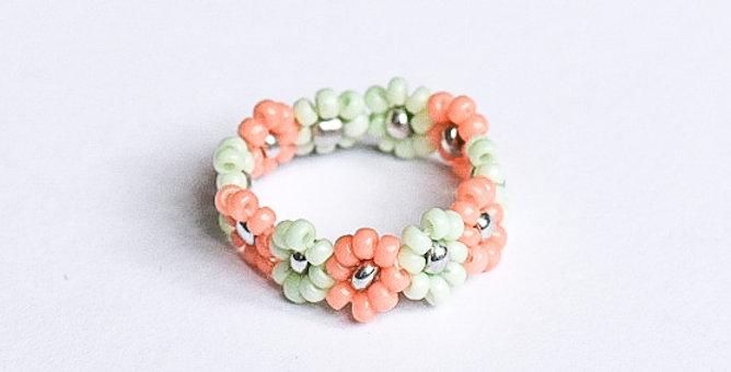 Pastel roses - ring