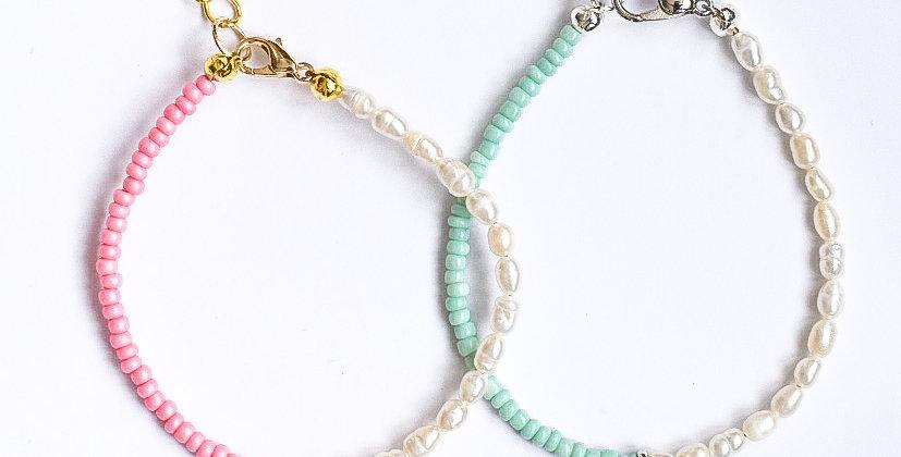 Pastel coin - armbandje