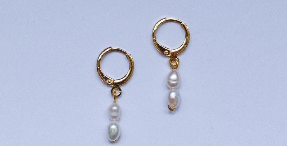 Pearl bars - oorbellen