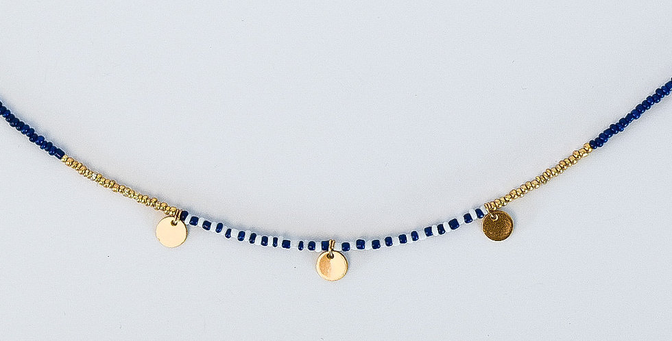 Striped coins - ketting