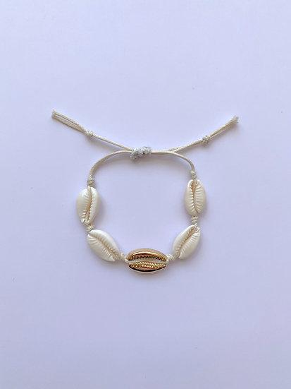 Golden shell - armbandje