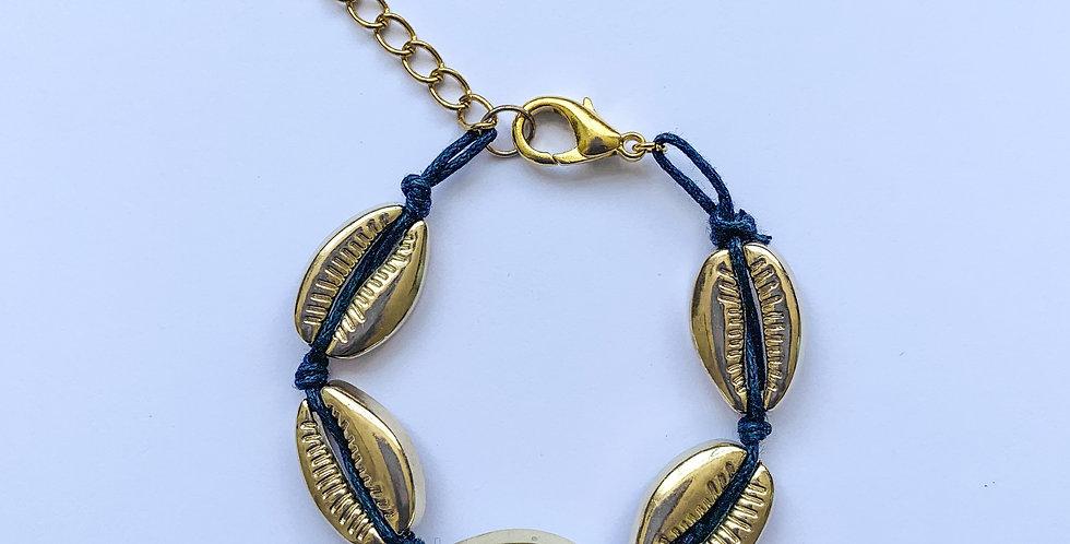 Golden shells - armbandje