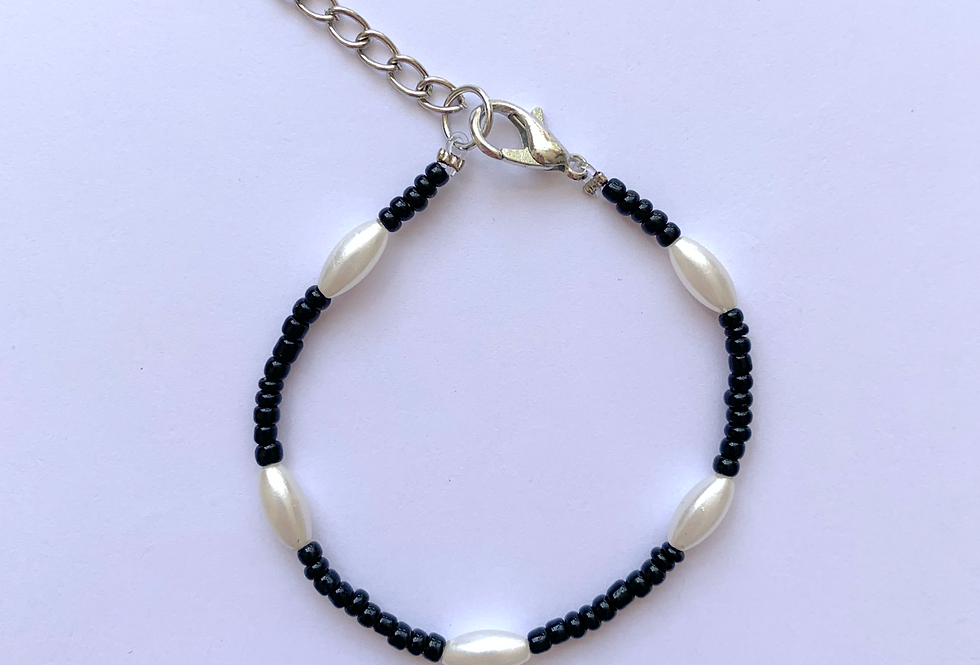 Black and white - armbandje