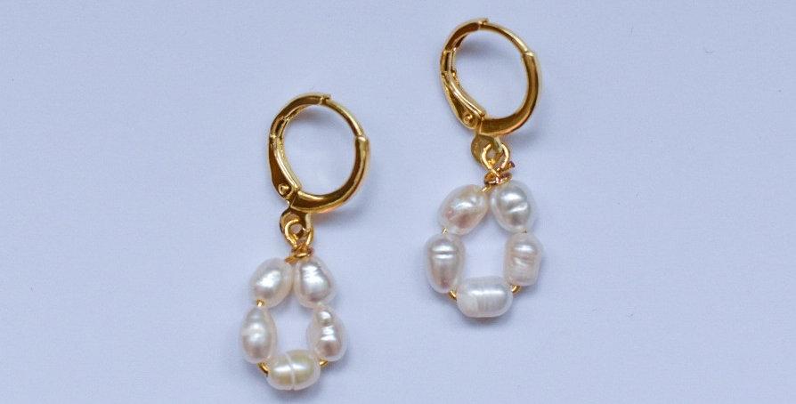 Pearl drops - oorbellen