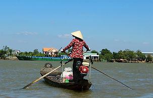 Mekong Delta Gondola Woman