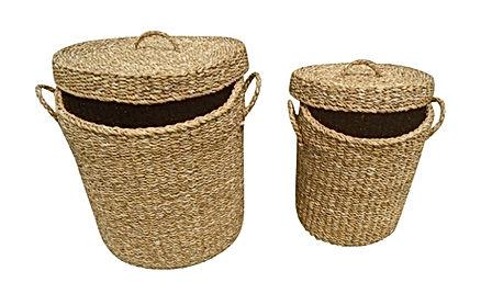 Sea grass storage with lids