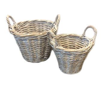 White wash beach seaside baskets