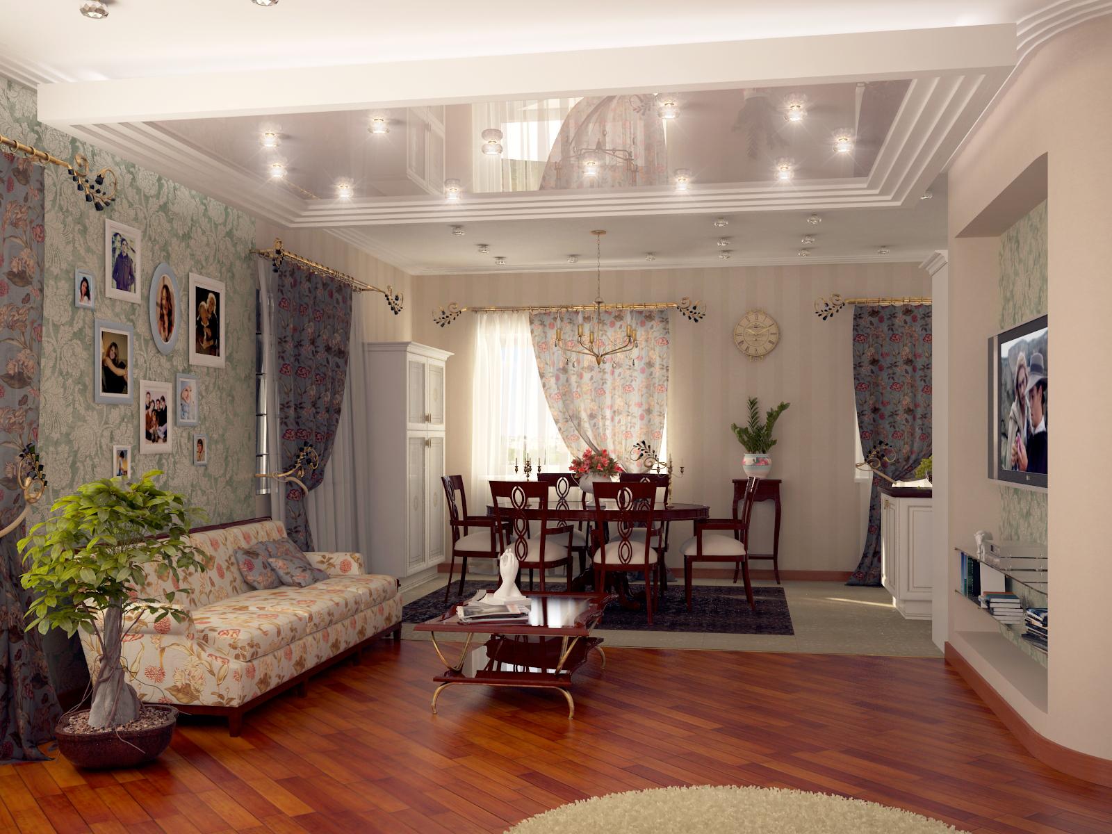 гостиная-столовая в квартире