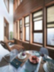 Панорамный вид в квартире-студии