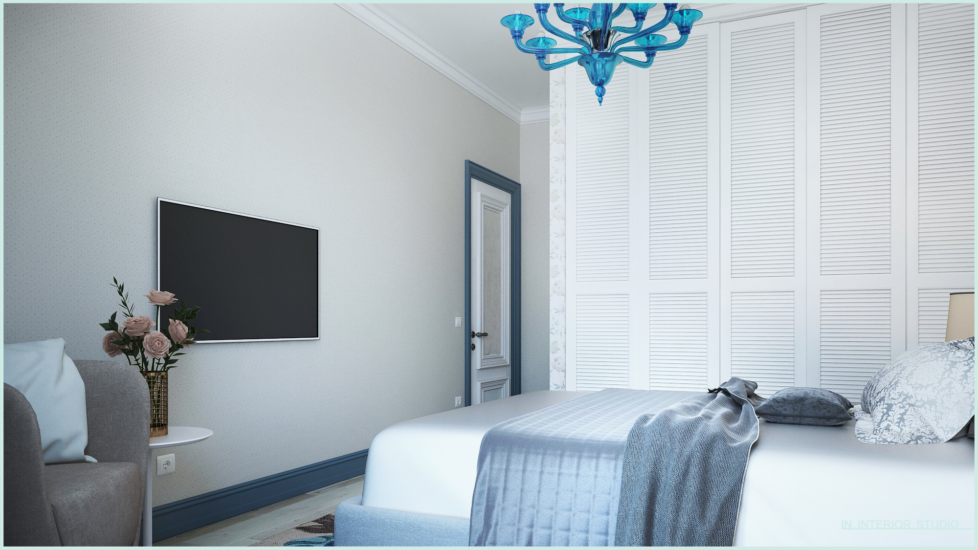 Спальная комната в двухкомнатной квартире