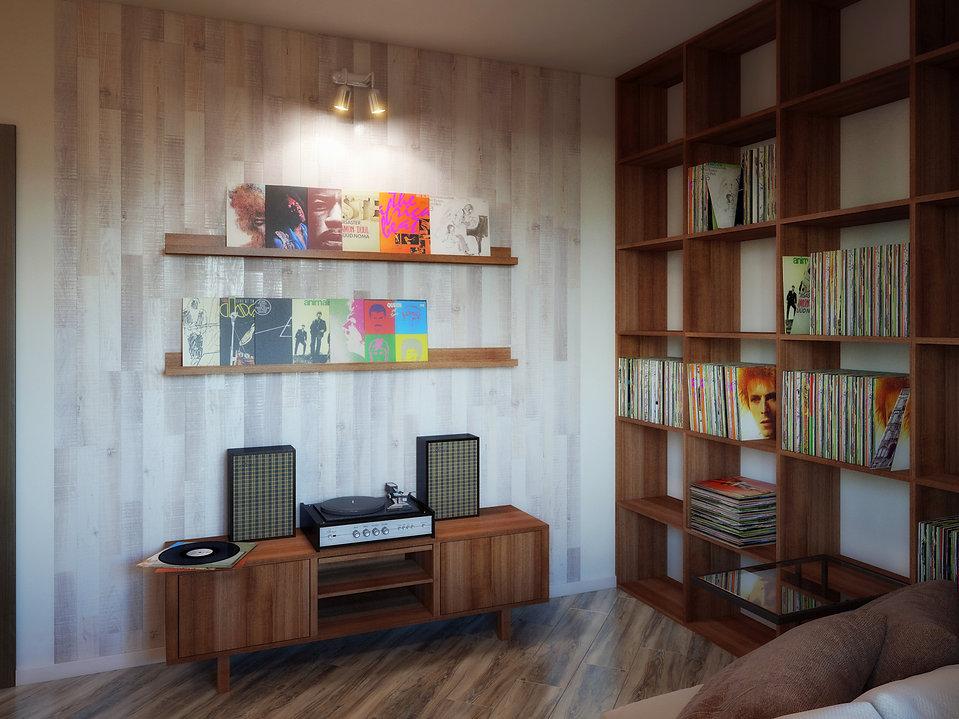 дизайн интерьера музыкальной комнаты в доме